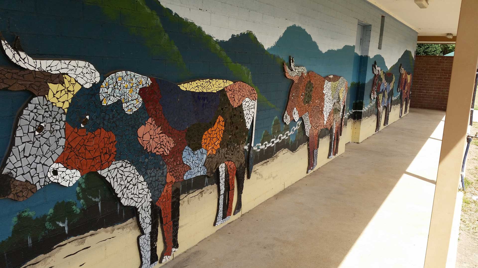 About - Public Toilets - Bullocks Mosaic Mural | Visit Oberon
