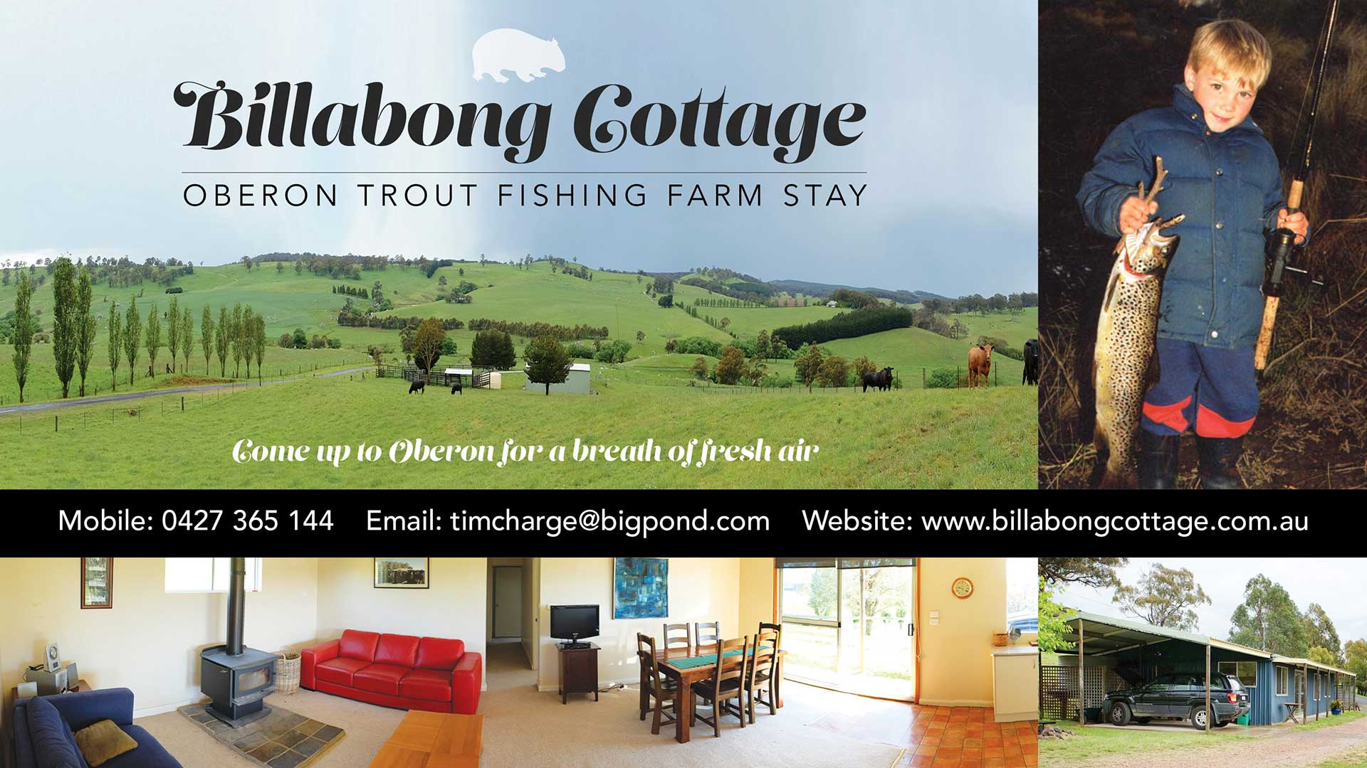 Accommodation - Billabong Trout Fishing Cottage Farmstay | Visit Oberon